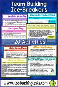 New classroom games for kids team building icebreakers 43 ideas Team Building Icebreakers, Building Games For Kids, Team Building Exercises, College Icebreakers, Building Ideas, Icebreakers For Kids, College Games, Icebreaker Activities, Activity Games