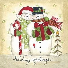Holiday Greetings ~ art by Annie La Point