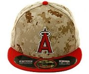 New Era Authentic Collection Los Angeles Angels Memorial Day On-Field 2014 Fitted Game Hat