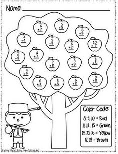 Johnny Appleseed Roll and Color Dice Game. Students can
