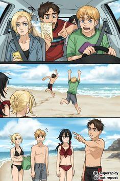 Attack On Titan Fanart, Eremika, Manga, Armin, Location History, Religion, Fan Art, In This Moment, Vacation