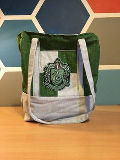 Slytherin Tote Bag by Whaleopotamus on Etsy https://www.etsy.com/listing/557122251/slytherin-tote-bag