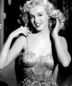 """""""Marilyn Monroe in a scene from Ladies of the Chorus. """""""