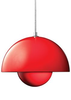 VP1 Red FlowerPot Pendant Lamp (1968) / designed by Verner Panton