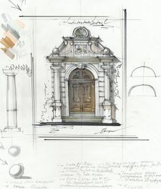 Architecture sketch markers 5.jpgArchitectural detail, sketch. Sketchbook. My architecture drawings, travel sketches. More find here: www.olgaart888.com Architecture drawing, illustrations, architecture sketches made with pencil, marker, watercolor. Sketching, presentation, building, tutorial, art, design, landscape, hand rendering, techniques, texture, shadows. My Markers: Copic, Promarker, Chartpak, Stylefile markers Hand Renderer: Olga Sorokina