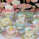 Traditional Vintage Luxury fine bone china tea sets and cake stands