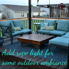 DIY Home Projects | Check out how to add rope lights to your deck and create the perfect outdoor ambiance!