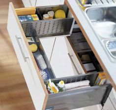 A drawer that wraps around sink is just right for keep scrubber, soap and all necessary cleaning items of #kitchen..!! #iMax #Realestate #Chandigarh #Mohali #Panchkula #Zirakpur