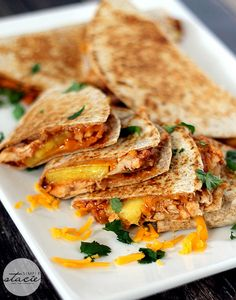 BBQ Chicken & Pineapple Quesadillas will become your favorite meal for when you want to try something different.