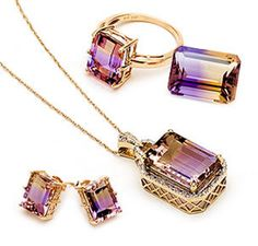 Ametrine ..... amethyst and citrine- love this- it combines mine and my sons birthstones!  <3