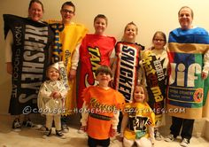 Fun Chocolate and Peanut Butter Candy Bars Family Costume... Coolest Homemade Costumes