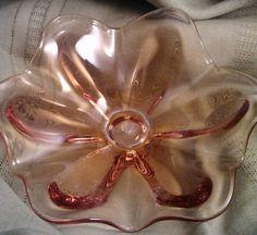 Vintage Amber Blown Glass Bowl by PurpleHazeDayz on Etsy, $64.00