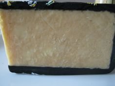 Marmite Cheese wheel section view