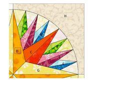 Trillium Design: Kaleidoscope Mariner's Block