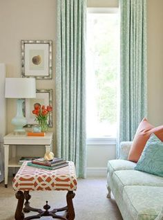 Ceiling to Floor Drapes ...We have high ceilings with tall windows. This is what we did. It makes the room look awesome.