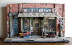 Tim Prythero - Antiques-Toys, mixed media sculpture