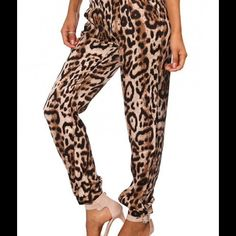 """Selling this """"Sexy  Leopard Print Caged Pants"""" in my Poshmark closet! My username is: chaunteybhe. #shopmycloset #poshmark #fashion #shopping #style #forsale #Pants"""