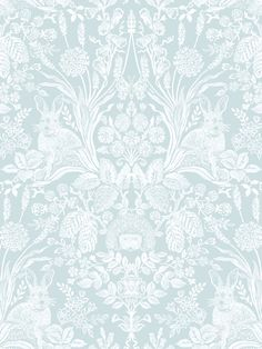 This stylish Woodland Damask wallpaper will make a great statement in most rooms of your home. It features a beautiful handpainted style design of woodland animals, flowers and leaves in white that form an intricate damask like pattern. This is set on a duck egg background with a smooth matte finish. Easy to apply, this high quality wallpaper would look great as a feature wall or equally good when used to decorate a whole room. Phone Wallpaper Images, Damask Wallpaper, Paper Wallpaper, Small Room Design Bedroom, Main Colors, Colours, Pattern Matching, Style Tile, High Quality Wallpapers
