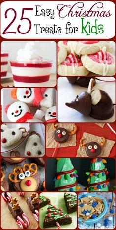 There's just something magical about baking and making treats with kids during the holidays. Don't miss out on making memories in the kitchen this year! Here's a round up of 25 EASY Christmas treats for kids. Basically, if my kids love it, I included it.