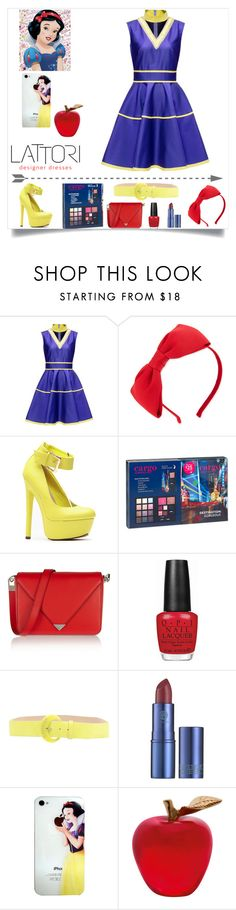 """snow white inspired: halloween party"" by j-n-a ❤ liked on Polyvore featuring Lattori, Kate Spade, CARGO, Alexander Wang, OPI, CAFèNOIR, Lipstick Queen, Daum, women's clothing and women"