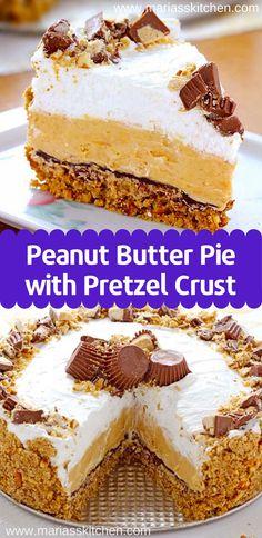 Sweet Desserts, Just Desserts, Delicious Desserts, Desserts For Birthdays, Icebox Desserts, Peanut Butter Desserts, Reese Peanut Butter Pie, Peanut Butter Birthday Cake, Peanut Cake