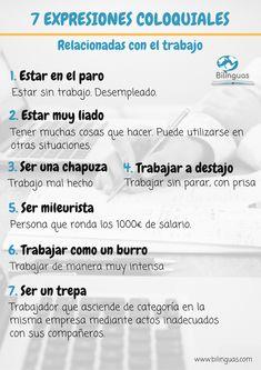 Expresiones coloquiales en español relacionadas con el trabajo