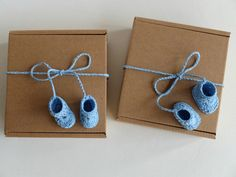 Baby boy shower favors box Gift box with tiny by PaperRhythms
