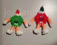 How To Make A Rainbow Loom M&M Candy Guy Christmas Ornament Figure