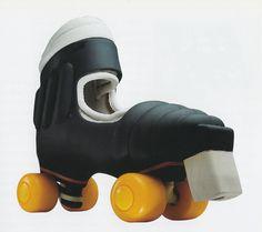 Esslinger Design, Indusco Froller rollerskates for Frollerskate, 1979 Frog Design, Corporate Design, Editorial Design, Industrial Design, Binoculars, Designer, Branding, Product Design, Sport