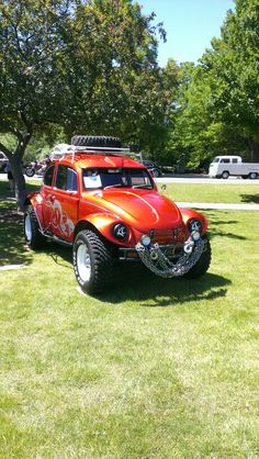 Baja Bug Car Volkswagen, Vw Cars, Weird Cars, Cool Cars, Combi Wv, Vw Baja Bug, Muscle Cars, Sand Rail, Beach Buggy
