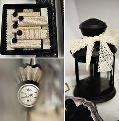 Victorian Bridal Shower or Wedding Party Decor - Love the Candy Wrapped Favors