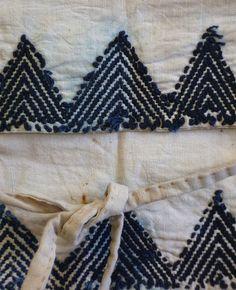 Sri   A Pair of Beautifully Sashiko Stitched Heel Guards: Akutogake