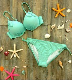 [ $30.00 ] Sexy fashion pure color beach bikini  1522364