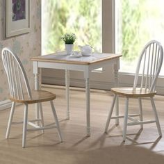 Have to have it. Boraam Farmhouse Tile Top Square 3 Piece Small Dinette Set - $239.99 @hayneedle