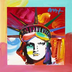 """""""Liberty Head"""" Peter Max  - Park West Gallery"""