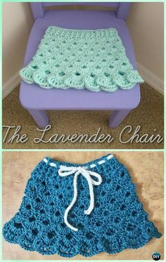 Crochet Stacked Shell Skirt Free Pattern - Crochet Girls Skirt Free Patterns