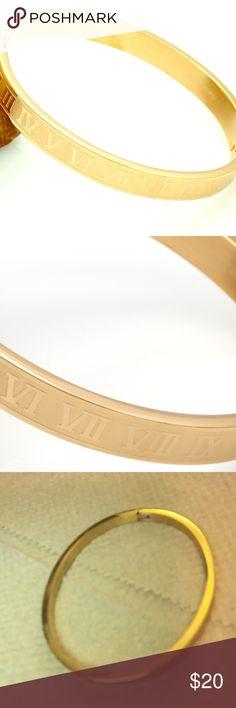 Stainless steel Roman numeral bracelet Gold stainless steel Roman numeral bracelet Jewelry Bracelets
