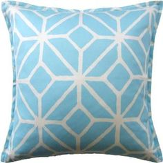 Trellis Print Indoor/Outdoor Pillow. Product in photo is from www.wellappointedhouse.com