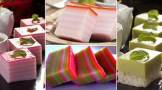Kueh lapis (Malay for 'ladder' cake), from Singapore, which symbolise a ladder to prosperity. (BBC)