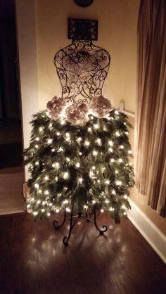 My dress form Christmas Tree 2015