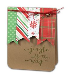 Jingle All The Way Card - click through for project instructions.