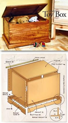 Toy Chest Plans - Wooden Toys Plans and Projects | http://WoodArchivist.com