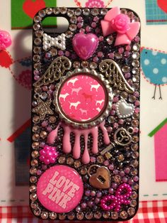 Victorias Secret Inspired Handmade Phone Cover. €45.00, via Etsy.