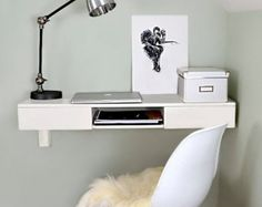 Floating Desk Wall Mounted Desk by shopFormolly on Etsy