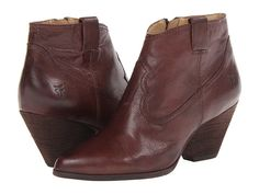 Frye Reina Bootie These are cute. I had a pair of black Tony Lama cow booties a million years ago, in the 90s. Wore them to death. Is there still a cowgirl in me?