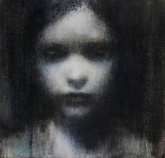 """Maya Kulenovic was born in Sarajevo but now lives and works in Toronto. Spare and haunting, her images are gradually revealed through many thin veils of oil paint. """"Figure of Rain,"""" 2011."""