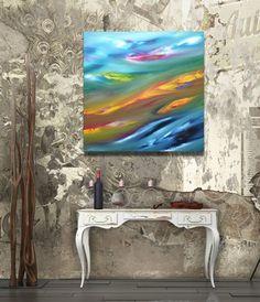 Sigh  50x50 cm Original Abstract Paintings oil di DePalmaPainter