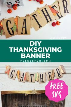 This Gather Thanksgiving banner is the perfect addition to your Thanksgiving decor. This project comes with a free SVG file, so you can use your Cricut to quickly and easily cut out the letters. This banner can be made with paper, felt, or heat transfer vinyl. This easy project comes with a step by step tutorial making it perfect for all levels of crafters.