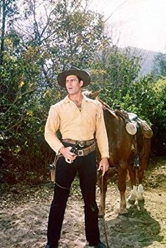 "Clint Walker, who starred as a gentle giant cowboy on the ABC Western ""Cheyenne,"" died Monday at Hollywood Actor, Hollywood Stars, Old Hollywood, Clint Walker Actor, Cheyenne Bodie, Beauty Heroes, Tv Westerns, Thing 1, Western Movies"