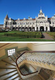 Les plus belles gares du monde La gare de Dunedin en Nouvelle Zelande